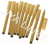 Tempo Piano Kalligraphiestift mit 1,5 mm breiter Spitze, für Kursivschriften, Arabisch, Persisch oder Urdu, 10 Stück Schwarz