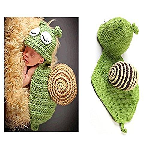 Baby Mädchen Kostüm Fotografie Foto Props Häkelarbeitknit Baby-Outfits Set (Schnecken) (Neugeborenes Mädchen Halloween-kostüm)