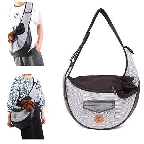 freyamall perro honda gato mascota bolsa transportadoras de viaje para mochila pequeña cachorro de viaje manos libres plegable mochila, gris