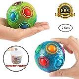 Die besten Spielzeug für Jugendliche - 2PCS Regenbogen Ball Magic Ball Spielzeug Puzzle Magic Bewertungen