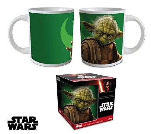 Copa de cerámica Yoda maestra verde de Star Wars con licencia de Disney. tazas de desayuno wars star sith jedi kitchen table coffee.