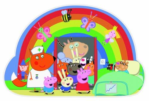 Imagen principal de Jumbo Games Peppa Pig - Puzzle infantil en forma de arcoíris (tamaño grande, 24 piezas)