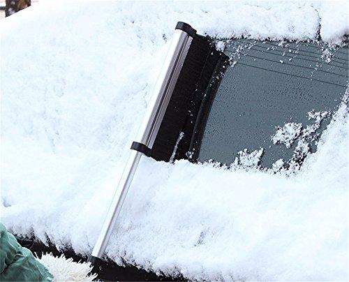 Auto Schnee Entferner Multifunktionale einziehbaren Schneeschaufel Wischer für Schnee LKW-Reinigung und entfrosterschalter Schaufel (Schnee-entferner Für Auto)