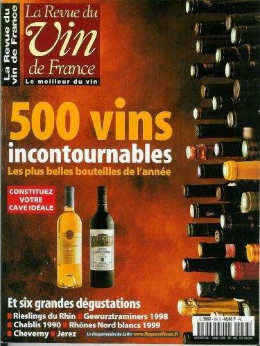 La Revue du vin de France - n456 - 01/11/2001 - 500 vins incontournables