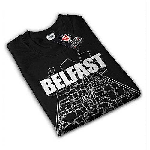 Nord Irlande Ville Belfast Ville Femme NOUVEAU Noir S-2XL Sweat-Shirt | Wellcoda Noir
