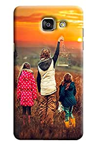 Blue Throat Two Girls With Boy Printed Designer Back Cover/Case For Samsung Galaxy A7 2016