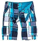 Herren Karoshorts Bermuda Hose CAGO-Shorts Sommer Hose kurz Shorts Herrenshorts H-158 M Blue10