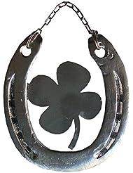 Herradura De La Suerte Con Trébol Natural lackiert  caballo Herradura     Amuleto de la suerte caballo Herradura   Herradura de la suerte auténtica Herradura como Amuleto