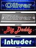 Schmalz Werbeservice Trucker LKW Namensschild Größe 50x10 cm - LED Acryl Leuchtschild 12V 24V mit edler Lasergravur