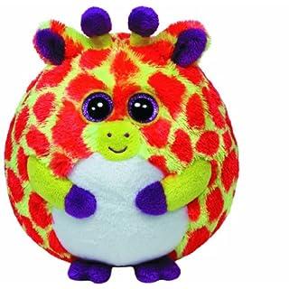 Ty Toby Ball 38129–Giraffe, 12cm Diameter, Pink/Yellow
