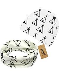 iZiv Babybekleidung Schals Niedliche Baby Kleinkind Kinder Cartoon drucken Hut Kappe Mütze + Schal Warp Set für 0-2 Jahre
