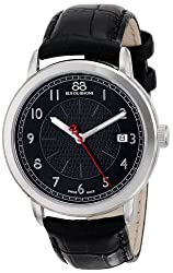 88 Rue du Rhone Mens 87WA120030 Analog Display Swiss Quartz Black Watch