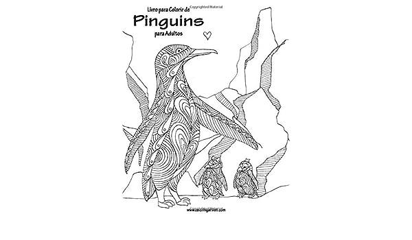 Buy Livro Para Colorir De Pinguins Para Adultos Book Online At Low