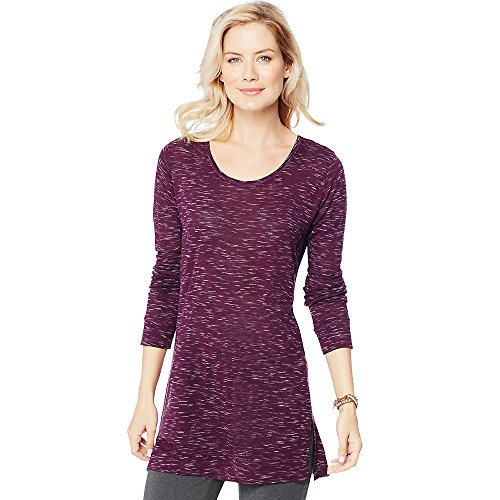 Womens Hanes Lightweight Space-Dye Vented Tunic