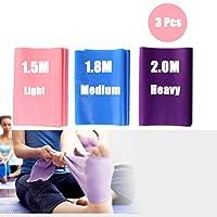 DoGeek Resistance Bands, Exercise Bands Gym Dance Stretch Ballet Bands 3 Pack Resistance Bands for Women Training or Men Gymnastics Yoga Pilates Bands - Stretching Improve your Strength,Splits