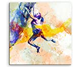 Klettern 60x60cm Wandbild SPORTBILD Aquarell Art tolle Farben von Paul Sinus