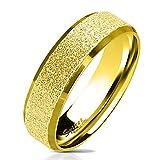 beyoutifulthings funkelnder Finger- Ring sandgebürstet Band- Ring Chirurgenstahl 316L Verlobungs- Ring Partner-Ring Trau- Ring 47(15)-69(22
