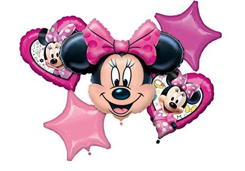 Amscan 3623201 Folienballon Set Minnie's fröhliche Helfer