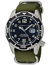 Momentum M50Mark II 'de los hombres de cuarzo acero inoxidable y nailon reloj de buceo, color: verde (modelo: 1m-dv52b7g)