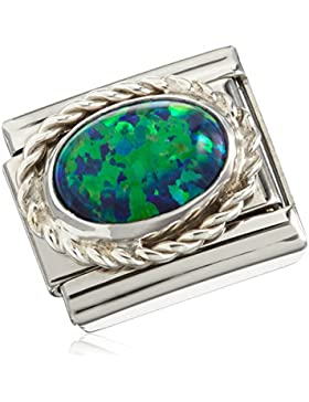 Nomination Damen Composable CLASSIC Edelsteine, Kordel-Fassung Silber 925 Edelstahl Opal grün - 030509/26