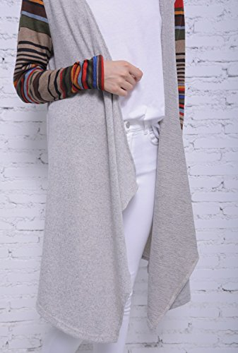 Blooming Jelly Femme Gilet Pull Manteau Femme Chaud Tricot Manche Longue Knitwear Outwear Sweater Basique Casual Cardigan Gris