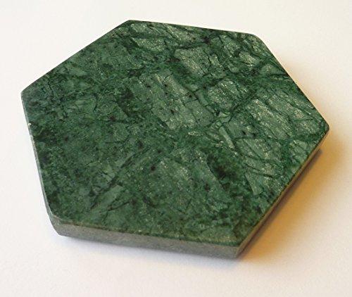 Marmor Untersetzer Set, Schwarzer marmor - Fossil Marmor