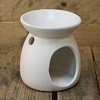 Ceramic Tealight Candle Holder Essential Oil Burner ~ White