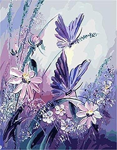 DIY ölgemälde Malen nach Zahlen Neuerscheinungen Neuheiten - DIY Gemälde durch Zahlen, Malen nach Zahlen Kits digitales Ölgemälde-E903 (Ohne Frame)
