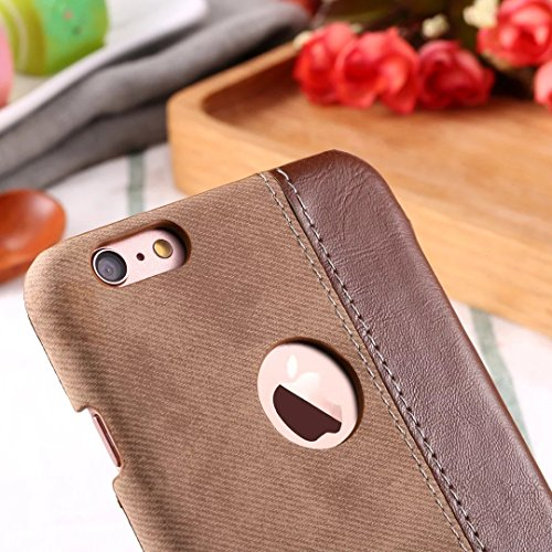 IPhone 6S Case Cover, Cowboy Jeans Texture Pattern Couverture en plastique dur en plastique pour IPhone 6S ( Color : Black , Size : IPhone 6S ) Brown