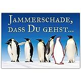 A4 XXL Abschiedskarte PINGUINE mit Umschlag - Klappkarte für Kollegen zur Rente Pension Mutterschaft Verabschiedung Ruhestand Karte von BREITENWERK