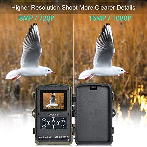 Zoom IMG-2 fotocamera caccia coolife 16mp 1080p