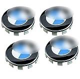 4x Centre Caps 68mm Wheel Centre Caps Blue White Logo...