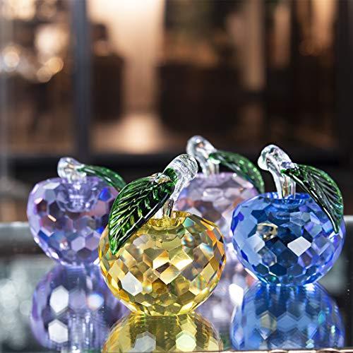 ammlerstücke Glas Apfel Figur Obst Ornament Tischdekoration,4 Stück ()