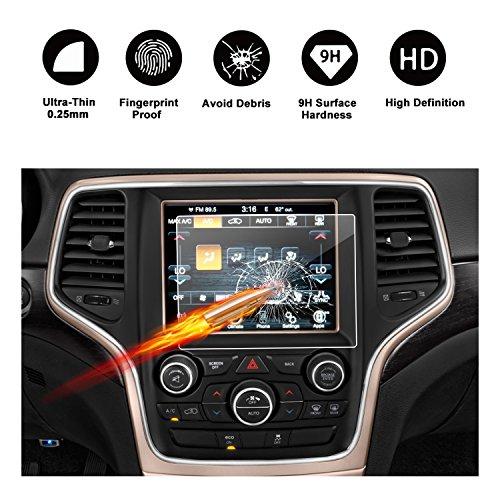 RUIYA Gehärtetem Glas Displayschutzfolie für (2011-2017) Jeep Grand Cherokee SRT WK2 WL Uconnect Navigations System,Transparente Film,Crystal Clear HD Displayschutz-8,4 Zoll -