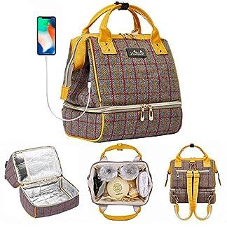 51szQIEjHbL. SS324  - Viedouce Mochila Cambiante para Bebé, Bolsa de Pañales, Mochila de Viaje Multifuncional con Bolsa Aislada y Puerto de Carga USB