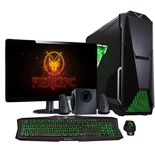 Fierce Bandit Gaming PC - 4GHz Vierkern AMD FX4300, AMD RX 460 2GB GDDR5, 16GB Hochleistungsarbeitsspeicher, 120GB Solid State Drive, 1TB Festplatte - Perfekt für neuen Spiele, DirectX 12 - 248445