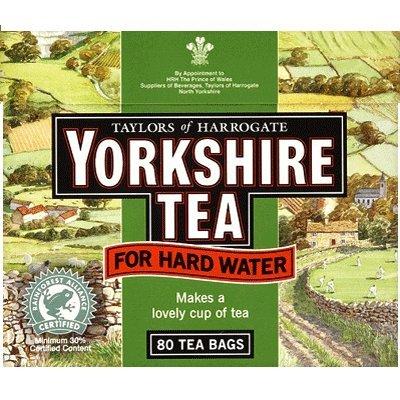 Taylors of Harrogate Yorkshire Tea for Hard Water 80 Btl. 250g – Spezieller Schwarzer Tee für hartes Wasser