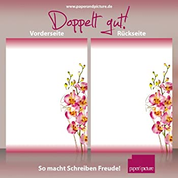 hochwertiges Briefpapier f/ür Laser//Ink//Copy//Hand BEIDSEITIG BEDRUCKT 110g//qm 50 Blatt A4 Motiv-Papier Orchidee