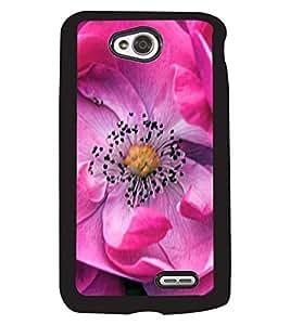 Fuson 2D Printed Flower Designer back case cover for LG L70 - D4499