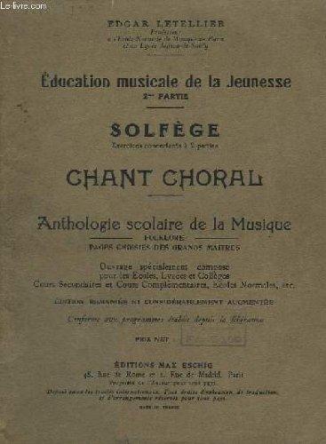 EDUCATION MUSICALE DE LA JEUNESSE - 2° ...