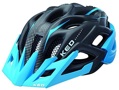 KED Fahrradhelm Status Jr., Blue Black Matt, 52-59 cm, 15403219M