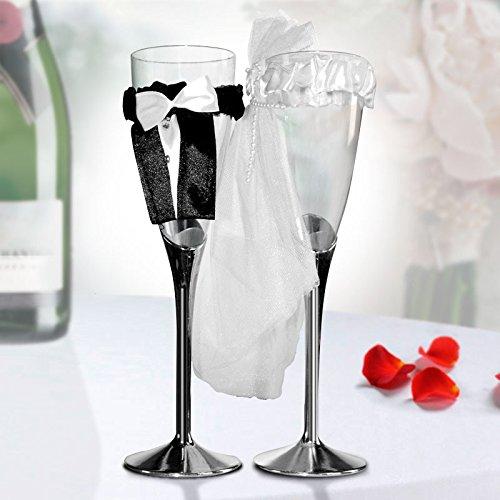 Bicchieri da Champagne Sposa e (Brindisi Sposa Sposo)
