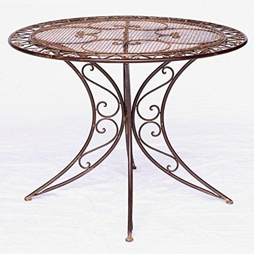 Ellas-Wohnwelt Table de Jardin Ronde Ronde pour extérieur, Maison, Cour, terrasse, Balcon