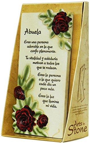 Framan PERGAMINO DE Piedra LABRADA con Textos para Ocasiones Especiales, Original Y ECONÓMICO. Especial Abuela