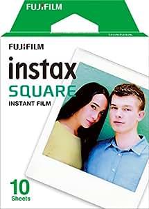 Fujifilm Instax Square 10 Exposures Instant Film (White)