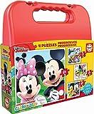 Educa Borras - Maleta Puzzles Progresivos Mickey Mouse, 12-16-20-25 (16505)