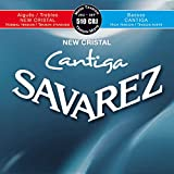 Savarez 656287 - Cuerdas para Guitarra Clásica New Cristal Cantiga juego 510CRJ Tensión mezclada