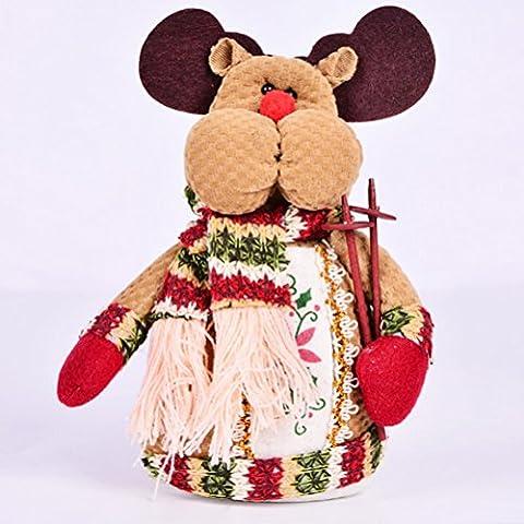 UEETEK Weihnachten Hirsch Elch Tisch Dekorationen Herzstück Ornamente stehen Dekor für (Weihnachtsfeier Tischdekoration)