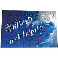 Origineller Heiratsantrag Puzzle Willst du mich heiraten / Will you marry me Luftballons Verlobung Hochzeit