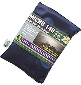 Hüttenschlafsack Inlett Sommer Schlafsack Micro Silk Art Sleeping Bag Liner 140g dunkelblau